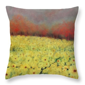 Throw Pillow featuring the painting Sunflower Days by Katie Black