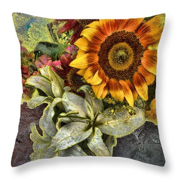 Sunflower Et Al. Throw Pillow