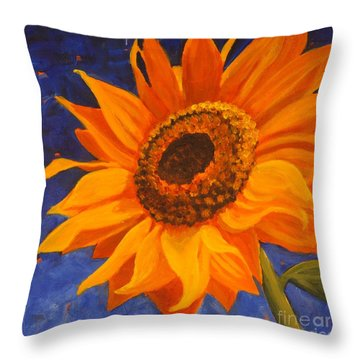Sunflower Gazing Throw Pillow