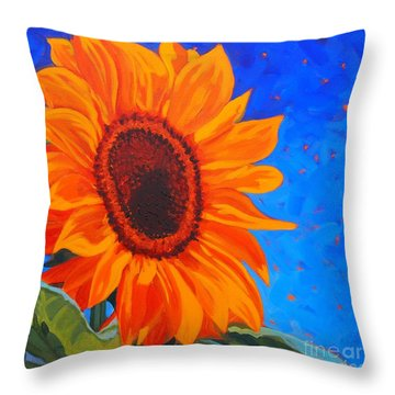 Sunflower Glow Throw Pillow