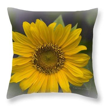 Sunflower Vr. 'dwarf Sunspot ' Throw Pillow