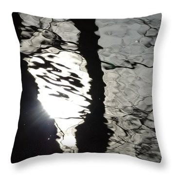 Throw Pillow featuring the photograph Sunlight On Water by Jane Ford
