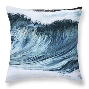 Sunlit Wave Throw Pillow by Vince Cavataio