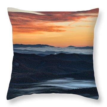 Sunrise At Pounding Mills Throw Pillow