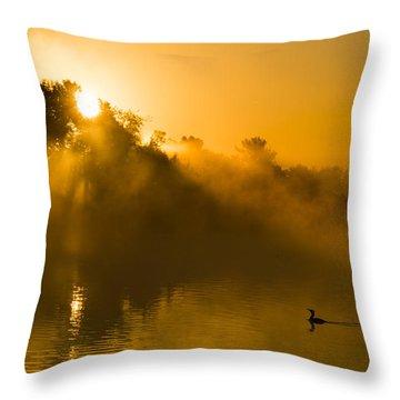Sunrise At The Sepulveda Dam Wildlife Reserve Throw Pillow