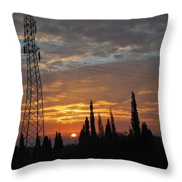 sunrise in Corfu 2 Throw Pillow