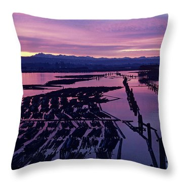 Sunrise Lumber Mill Throw Pillow