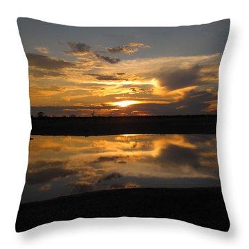 Sunrise Over Savuti Park Throw Pillow