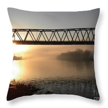 Sunrise Over The Ohio Throw Pillow