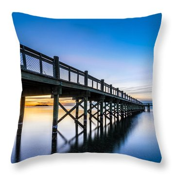 Sunrise Under The Boardwalk Throw Pillow
