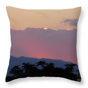 Throw Pillow featuring the photograph Sunset 2 by Ze  Di