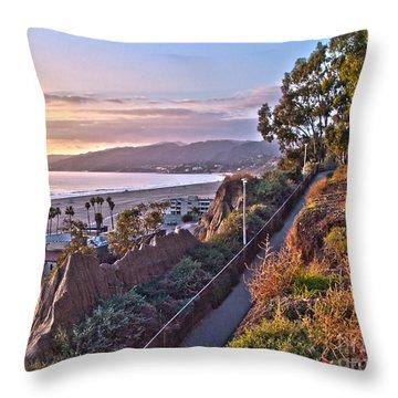 Sunset At The Bluffs Throw Pillow