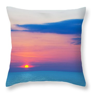 Sunset By The Sea Throw Pillow by Michal Bednarek