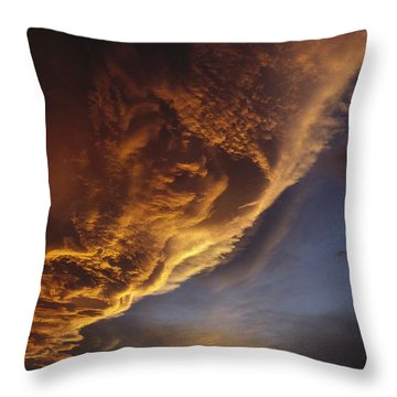 Sunset On Storm Clouds Near Mt Cook Throw Pillow