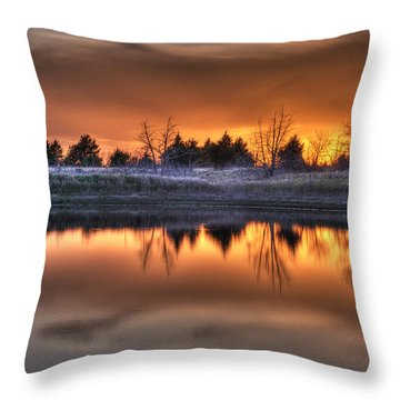 Sunset Over Bryzn Throw Pillow