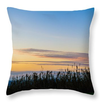 Sunset Over The Field Throw Pillow