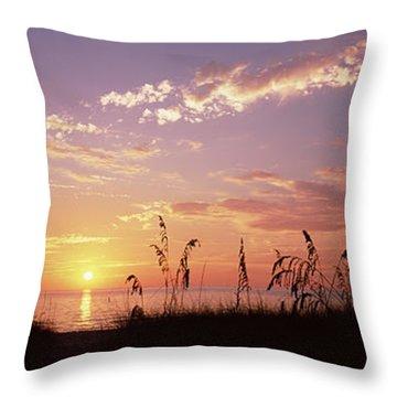 Sunset Over The Sea, Venice Beach Throw Pillow