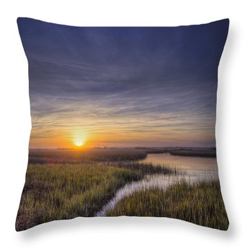 Sunset Path Throw Pillow