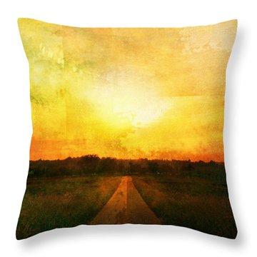 Sunset Road Throw Pillow by Brett Pfister