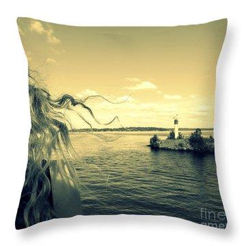 Sunshine Throw Pillow by France Laliberte
