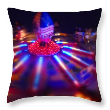 Superbowl Throw Pillow by Charles Stuart
