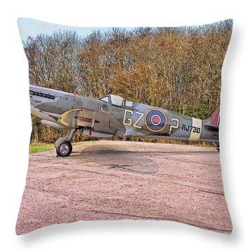 Supermarine Spitfire Hf Mk. Ixe Mj730 Throw Pillow