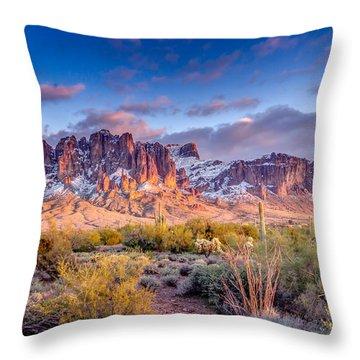 Superstition Mountains Throw Pillows