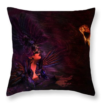 Throw Pillow featuring the digital art Supplication 06301301 - By Kylie Sabra by Kylie Sabra