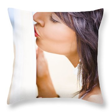 Surfing Love Throw Pillow