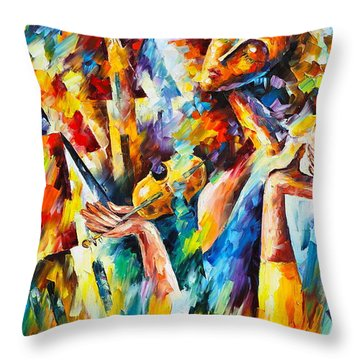 Sweet Dreams Throw Pillow by Leonid Afremov