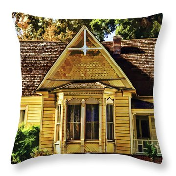 Throw Pillow featuring the painting Sweet Home by Muhie Kanawati