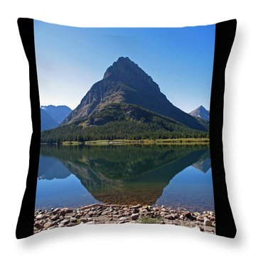 Throw Pillow featuring the photograph Swiftcurrent  Lake Many Glacier by Joseph J Stevens