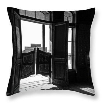 Swinging Doors Throw Pillow