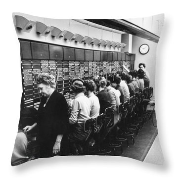 Switchboard Operators Throw Pillow