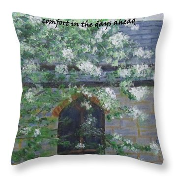 Sympathy Card With Church Throw Pillow