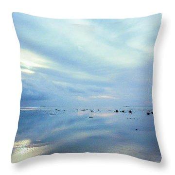 Tahiti At Sunset Throw Pillow