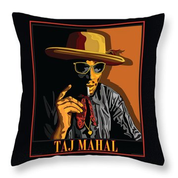 Taj Mahal Throw Pillow by Larry Butterworth