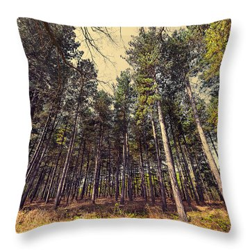 Tall Trees Throw Pillow by Svetlana Sewell