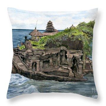 Tanah Lot Temple Bali Indonesia Throw Pillow