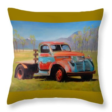 Taos Truck Throw Pillow