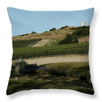 Tarquinia Countryside Throw Pillow