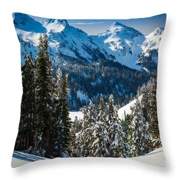 Tatoosh Winter Wonderland Throw Pillow