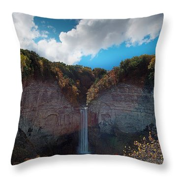 Throw Pillow featuring the photograph Taughannock Falls Ithaca New York by Paul Ge