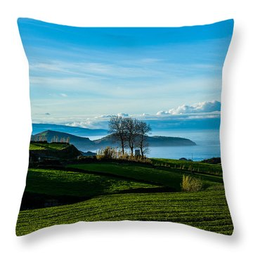 Tea Trees Throw Pillow