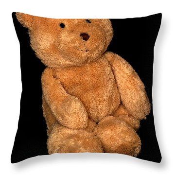Teddy Bear  Throw Pillow by Tommytechno Sweden