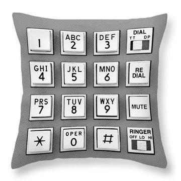 Telephone Touch Tone Keypad Throw Pillow