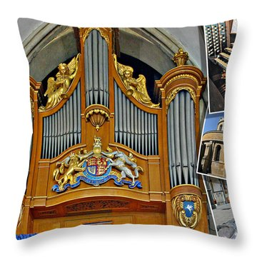 Temple Church London Throw Pillow