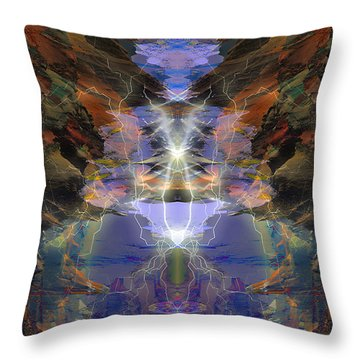 Throw Pillow featuring the digital art Tesla's Coil by Ursula Freer