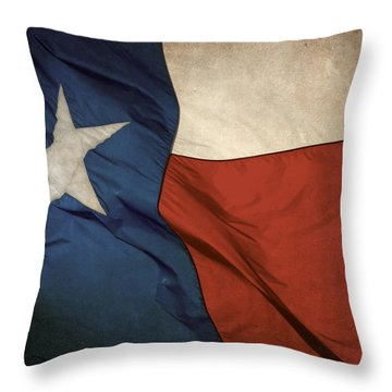 Rustic Texas Flag  Throw Pillow