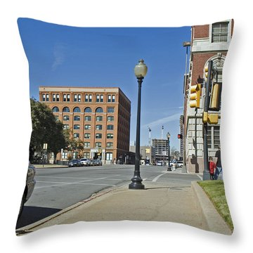 Throw Pillow featuring the photograph Texas School Book Depository by Charles Beeler